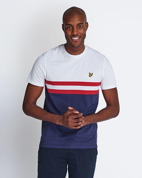 Lyle & Scott T-Shirt Yoke Stripe