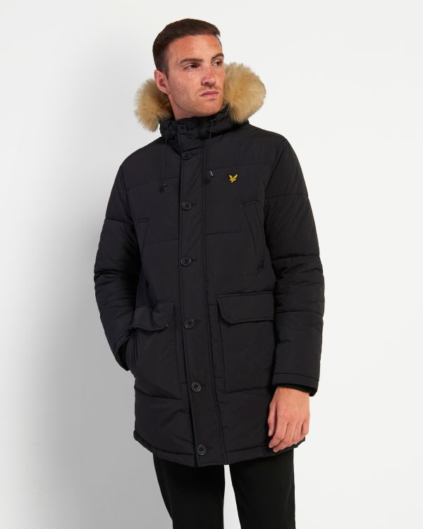 Lyle & Scott Long Puffer Jacket With Heavyweight Lining