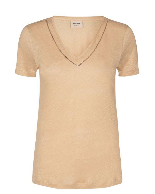 Mos Mosh T-Shirt V-neck Gina Sequin
