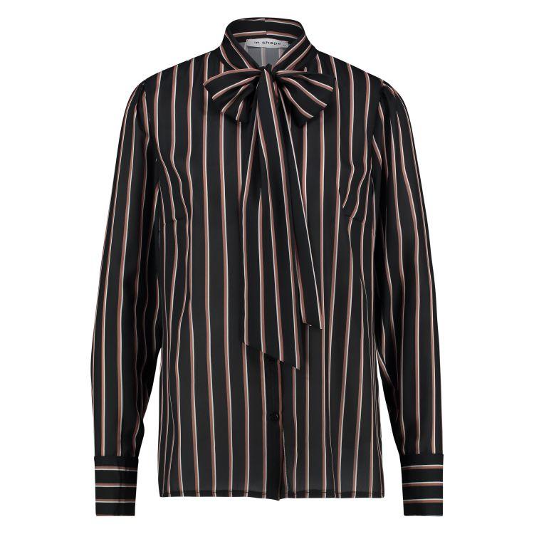 In Shape Blouse Bow Stripe