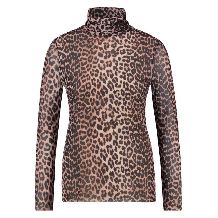 In Shape Top Mesh Leopard