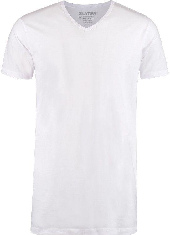 Slater T-Shirt V-Hals 2-pack Extra long fit
