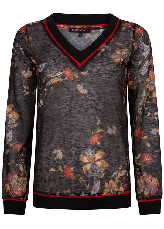 Tramontana Top V-neck Lm Chinese Flower