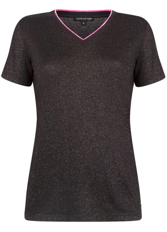 Tramontana T-Shirt Lurex V-Neck