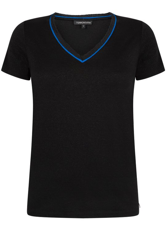Tramontana T-Shirt Lurex Stripe