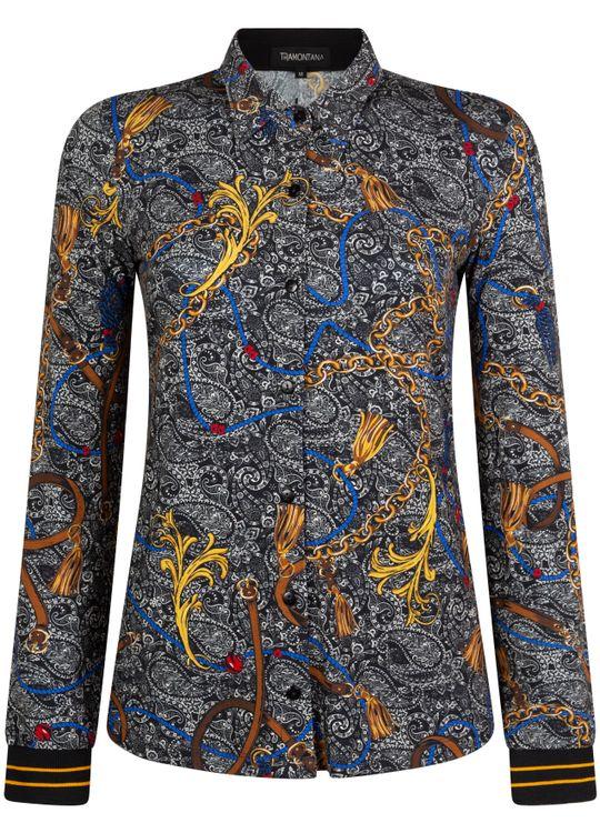 Tramontana Blouse Jersey Chain Print