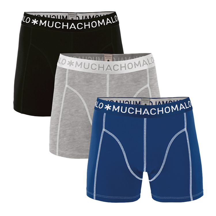 Muchachomalo Boxershorts 3-Pack Solid