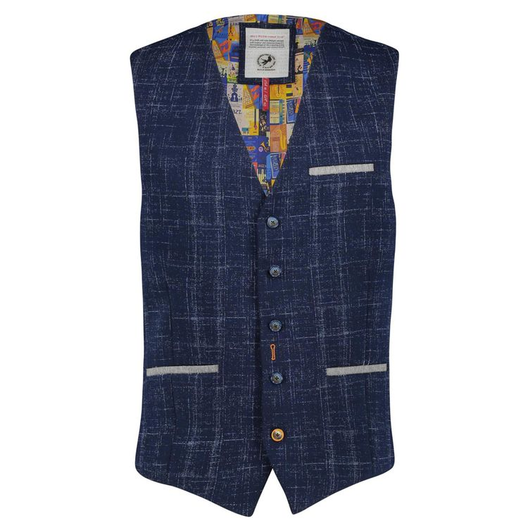 A Fish Named Fred Gilet jersey navy