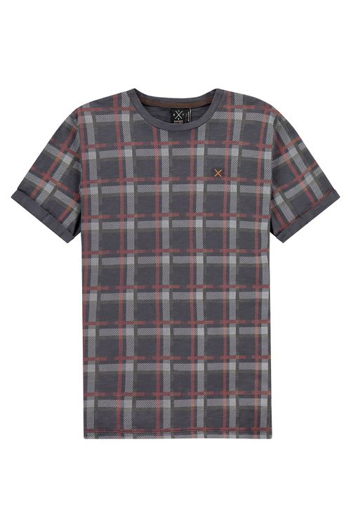 Kultivate T-Shirt KM Faded Plaid