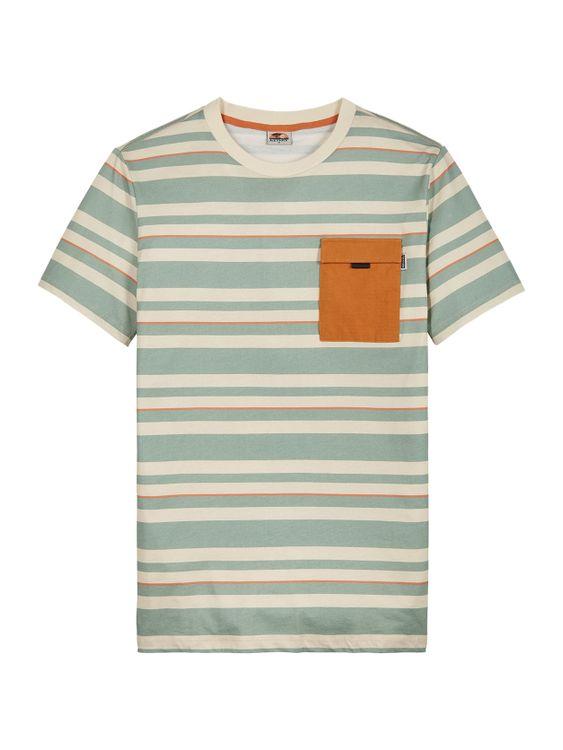 Kultivate T-Shirt Stripes Pocket