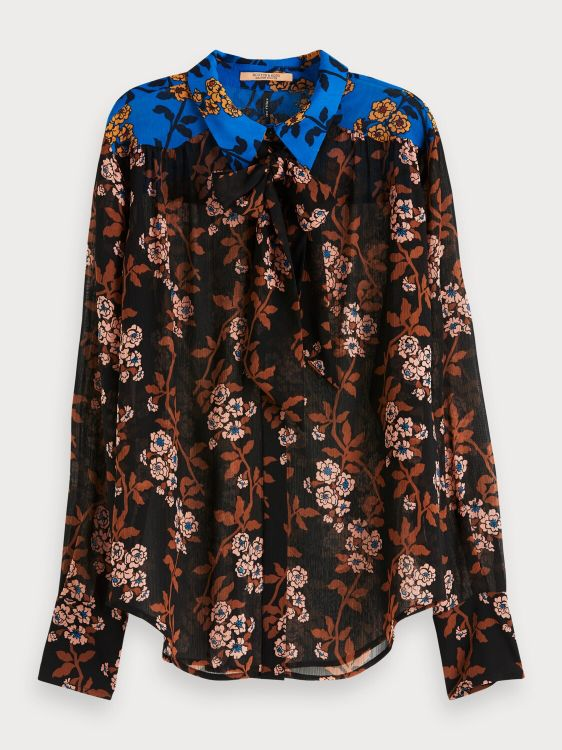 Maison Scotch Mixed print Blouse Tie