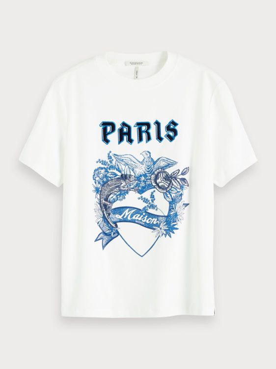 Maison Scotch T-Shirt KM with toile ar