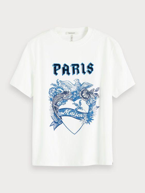 Maison Scotch T-Shirt KM with toile ar