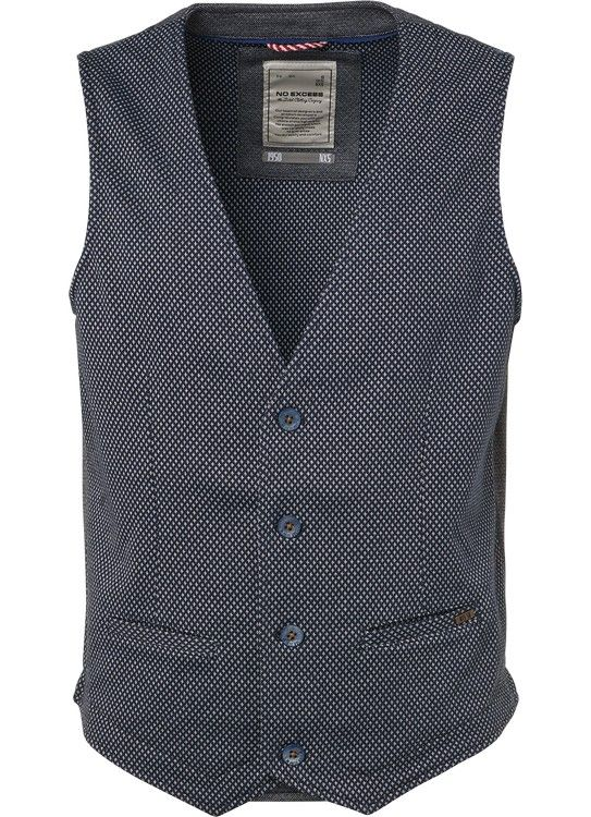 No Excess Gilet Dyed Jacquard