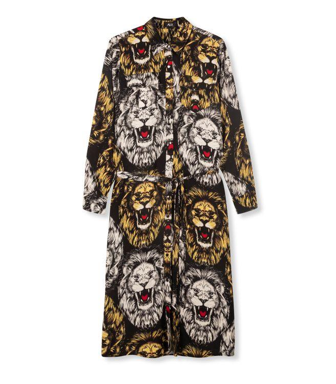 ALIX OVERSIZED LION BLOUSE DRESS