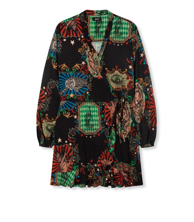 ALIX BIG CIRCUS SHORT WRAP DRESS