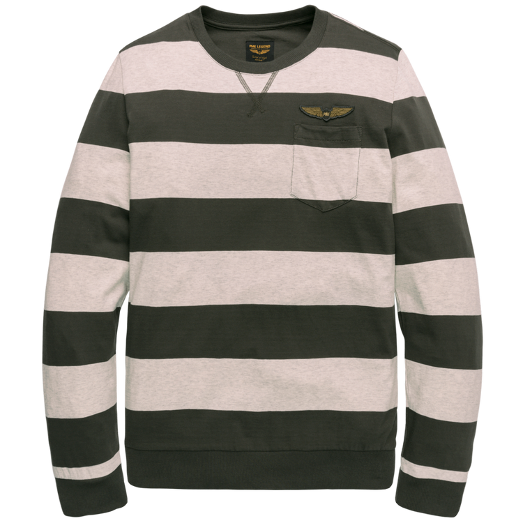PME Legend T-Shirt LM Striped Jersey PTS198530