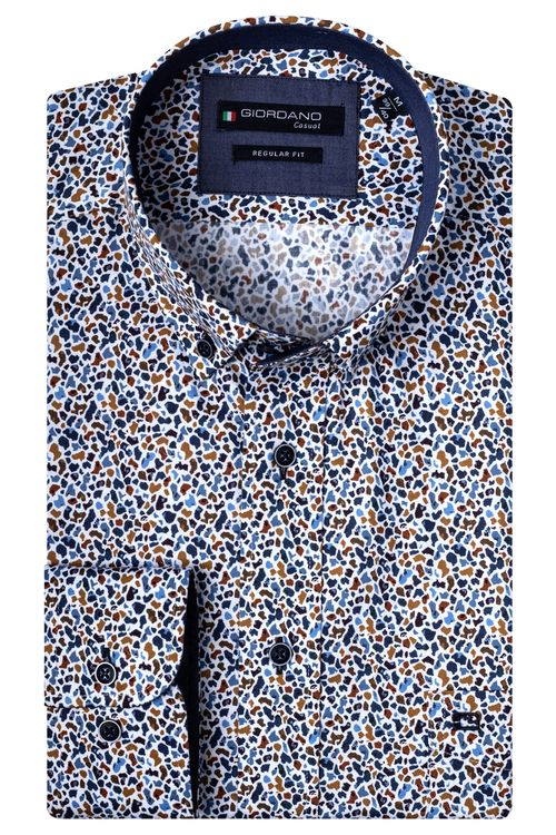 Giordano Overhemd LM Mosaic 207020