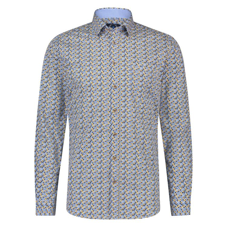 Scotland Blue Overhemd LM 20307WA50SB