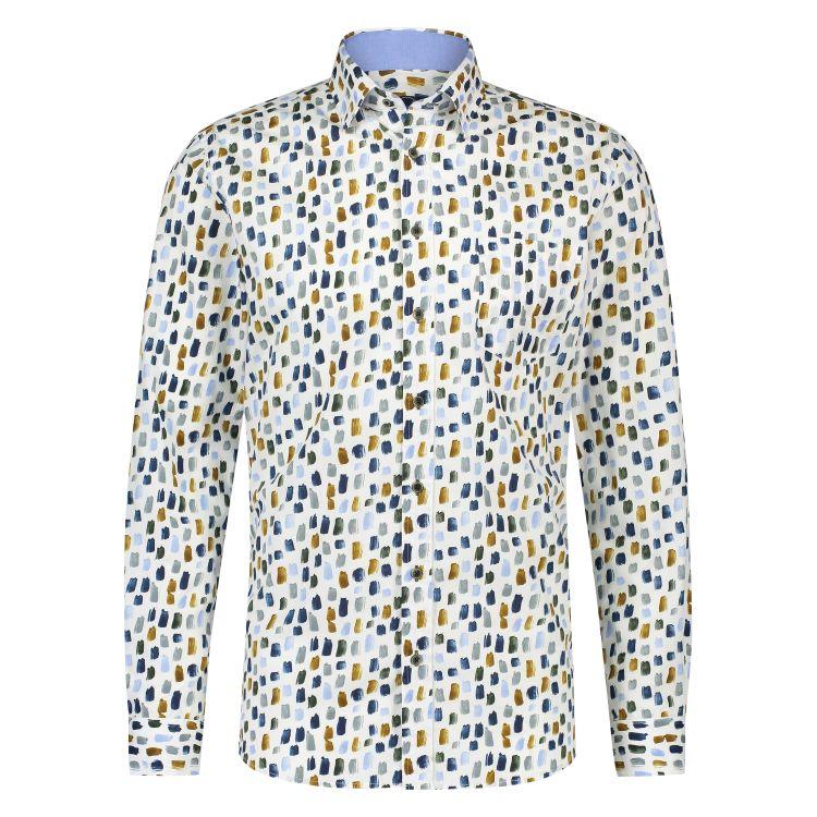 Scotland Blue Overhemd LM 20307WA51SB
