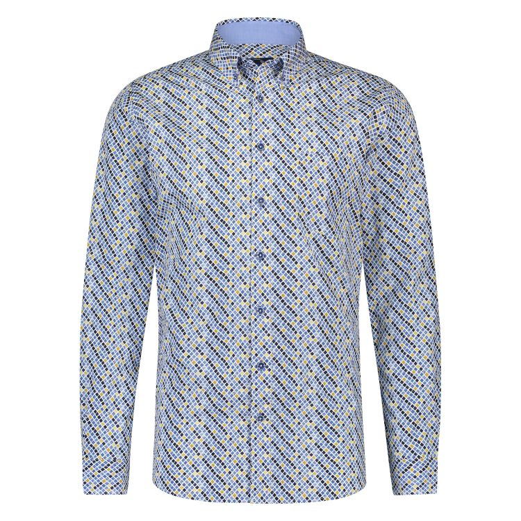 Scotland Blue Overhemd LM 20307WI25SB