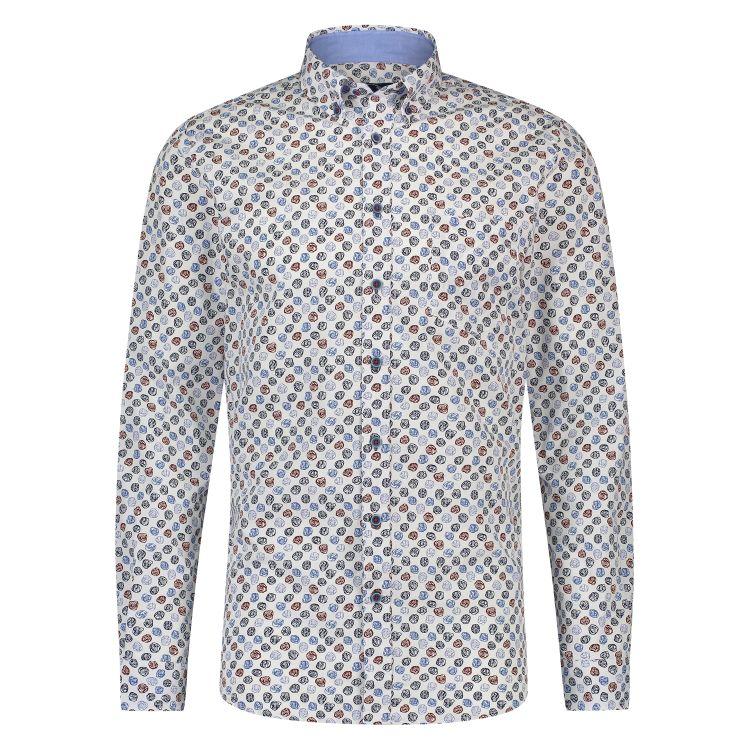 Scotland Blue Overhemd LM 20307WI30SB