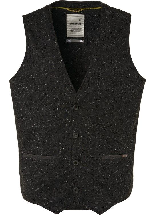 No Excess Gilet Knitted Melange