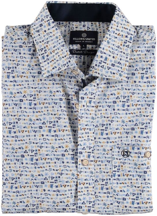 Fellows Overhemd LM Mini Print Design