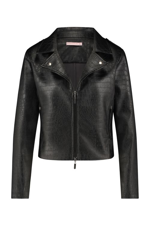 Studio Anneloes Biker Croko Leather Jacket 05283