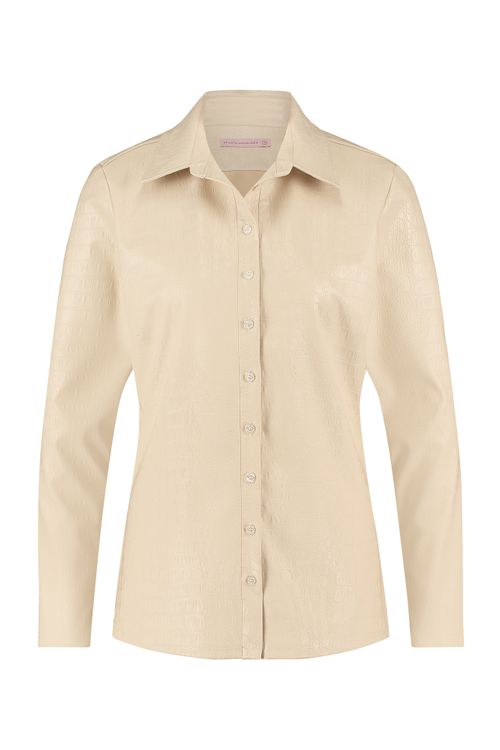 Studio Anneloes Poppy croco faux leather shirt