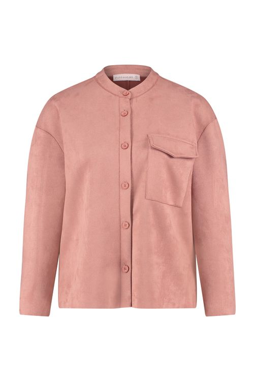 Studio Anneloes Selma suede stretch blouse jacket