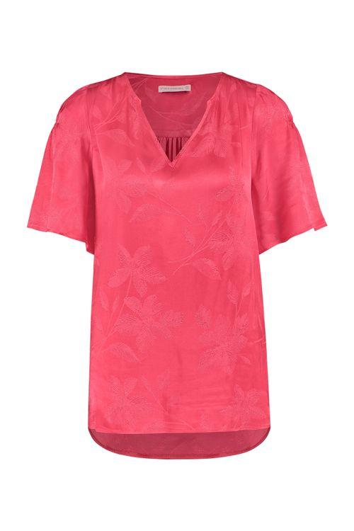 Studio Anneloes Victoria satin leaf blouse