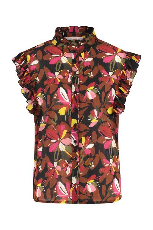 Studio Anneloes Michelle crepe flower blouse