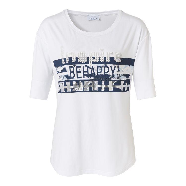 Just White T-Shirt KM 43661