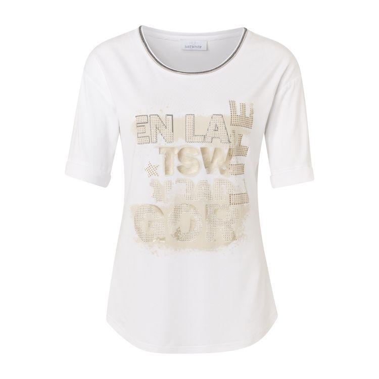 Just White T-Shirt KM 43752