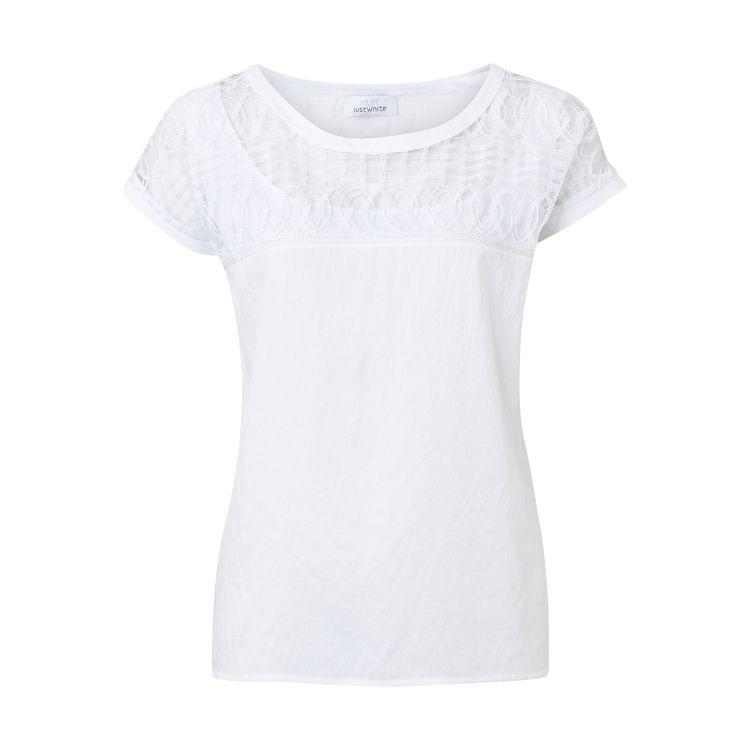 Just White T-Shirt KM 43845