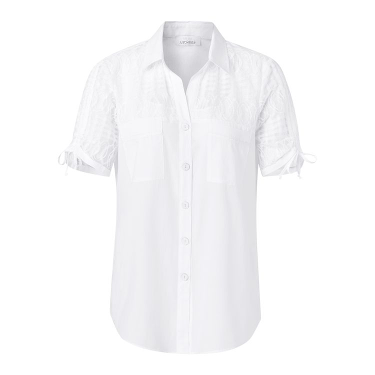 Just White Blouse LM 43844