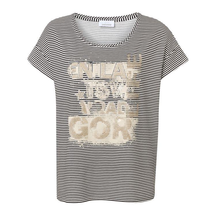 Just White T-Shirt KM 43887